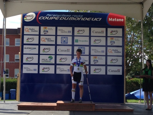 Shelley at the World Championships, Matane 2013